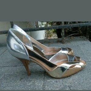 Guiseppe Zanotti Sexy Rose Gold Silver Leather